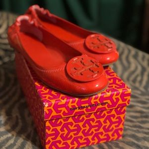 Tory Burch Patent Leather Ballerina Flat
